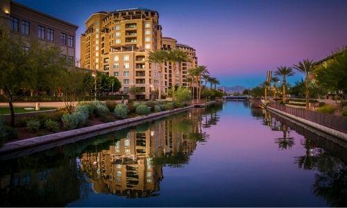 Downtown Scottsdale golden hour