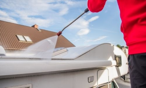 RV and mobile home washing