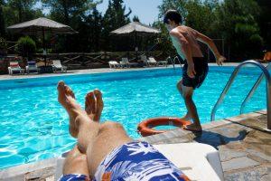 clean pool deck for summer fun